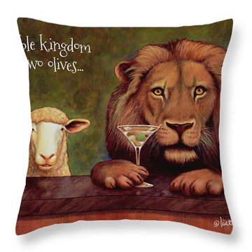 Peaceable Kingdom With 2 Olives... Throw Pillow