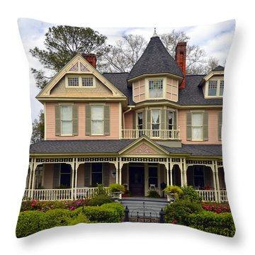 Peach Bainbridge Beauty Throw Pillow by Carla Parris