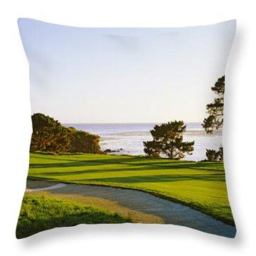Pebble Beach Golf Course, Pebble Beach Throw Pillow
