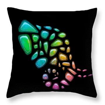 Pebble Elephant Black 2 Throw Pillow