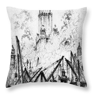 Pennell New York City, 1924 Throw Pillow