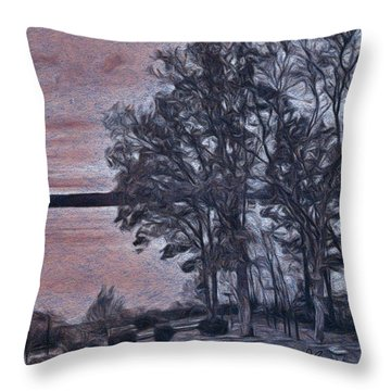 Throw Pillow featuring the painting Pennsylvania Landscape by Joan Reese