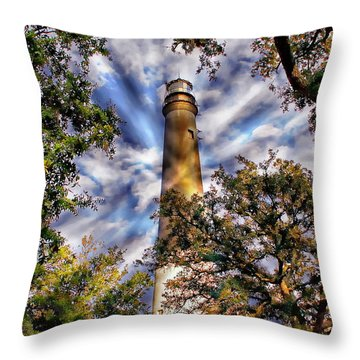 Pensacola Lighthouse Throw Pillow