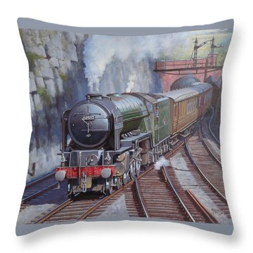 Throw Pillow featuring the painting Peppercorn Pacific. by Mike  Jeffries