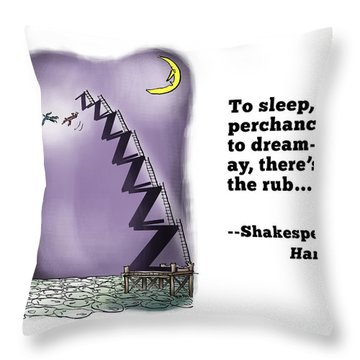 Perchance To Dream Throw Pillow