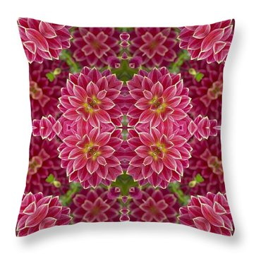 Perennial Garden Art Throw Pillow
