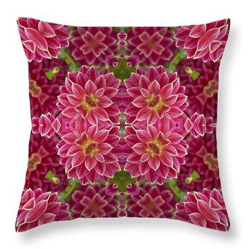 Perennial Garden Art Throw Pillow