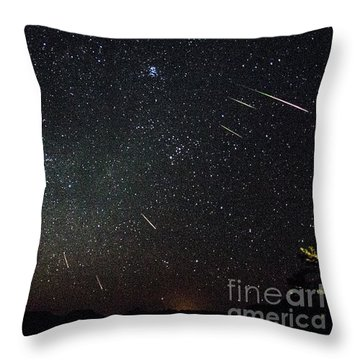 Perseid Meteor Shower Throw Pillow