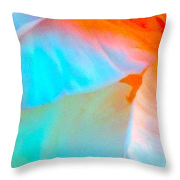 Petals Throw Pillow by Gwyn Newcombe