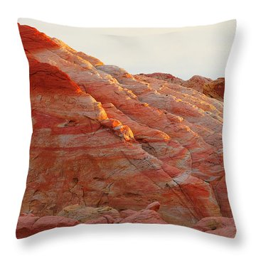 Petrified Fire Throw Pillow by Christine Till