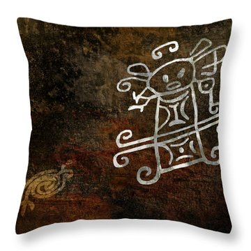 Petroglyph 1 Throw Pillow
