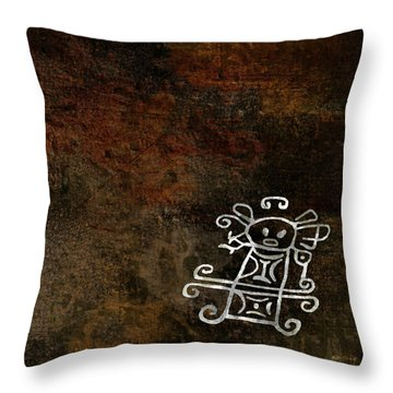 Petroglyph 2 Throw Pillow