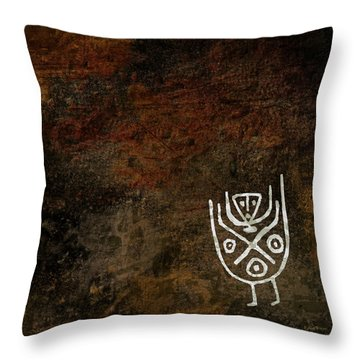 Petroglyph 3 Throw Pillow