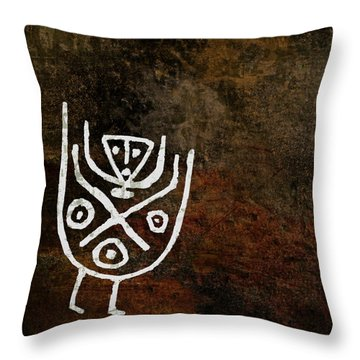 Petroglyph 4 Throw Pillow