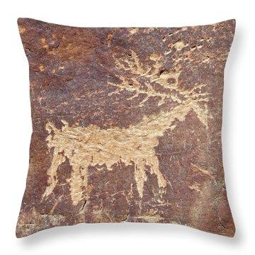 Petroglyph - Fremont Indian Throw Pillow