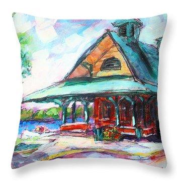Pewaukee Depot Throw Pillow