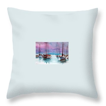 Throw Pillow featuring the painting Phang-nga Bay by Ed Heaton