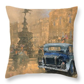 Phantom In Piccadilly  Throw Pillow