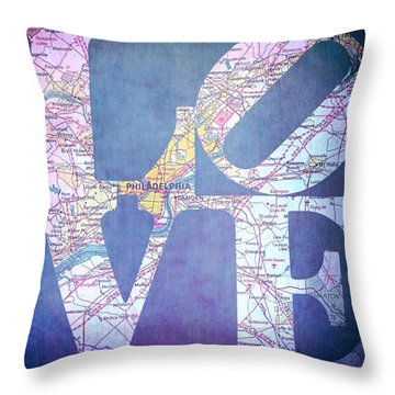 Philly Love V11 Throw Pillow