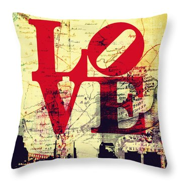 Philly Love V9 Throw Pillow