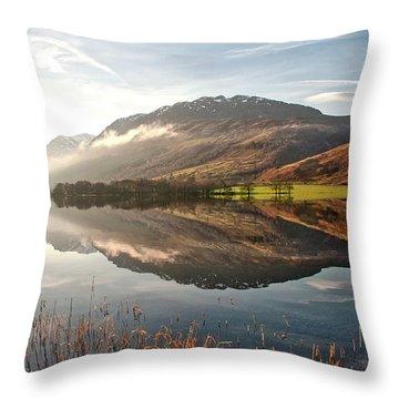 Scotland Nature Throw Pillow