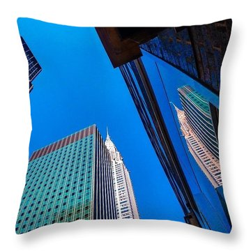 Photoshopping #tbt #nyc Summer Of 2013 Throw Pillow