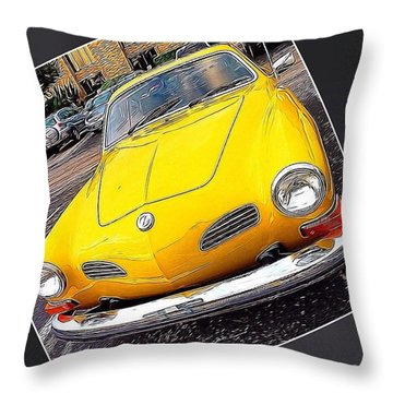 Photoshopping The #yellow #karminnghia Throw Pillow