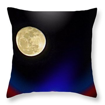 Photoshopping Tonight's #moon. Wish Throw Pillow