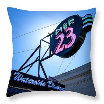 Pier 23 Throw Pillow