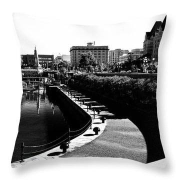 Throw Pillow featuring the photograph Pier Victoria by Brian Sereda