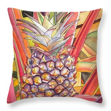 Pineapple Throw Pillow by Marionette Taboniar