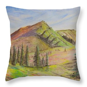 Pines On The Hills Throw Pillow