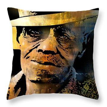 Pinetop Perkins Throw Pillow by Paul Sachtleben