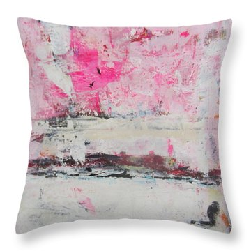 Pink About It 5 Throw Pillow