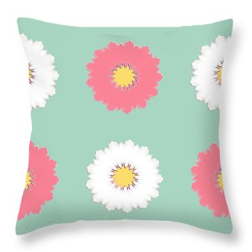 Throw Pillow featuring the digital art Pink And White by Elizabeth Lock