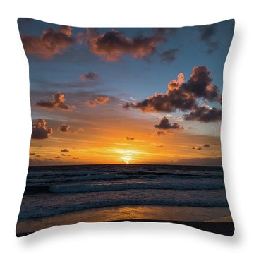 Pink Cloud Sunrise Delray Beach Florida Throw Pillow