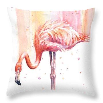 Pink Flamingo Throw Pillows