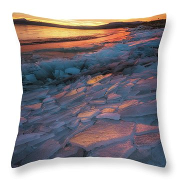 Pink Ice Throw Pillow