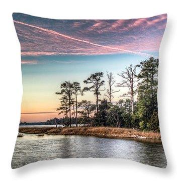 Pink Sky At Night Throw Pillow