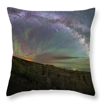 Throw Pillow featuring the photograph Pinnacles  by Aaron J Groen