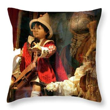 Pinocchio In Venice Throw Pillow