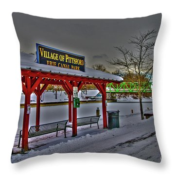 Pittsford Canal Park Throw Pillow
