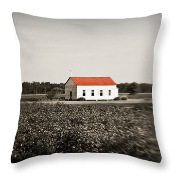 Plantation Church Throw Pillow by Scott Pellegrin