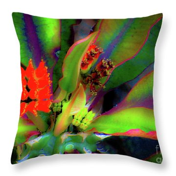 Plants And Flowers In Hawaii Throw Pillow