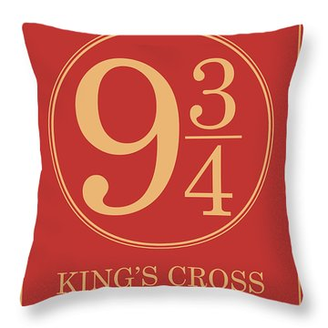 Platform Nine And Three Quarters - Harry Potter Wall Art Throw Pillow