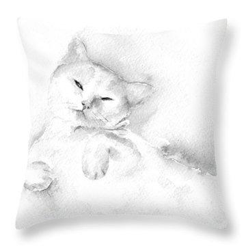 Playful Cat II Throw Pillow