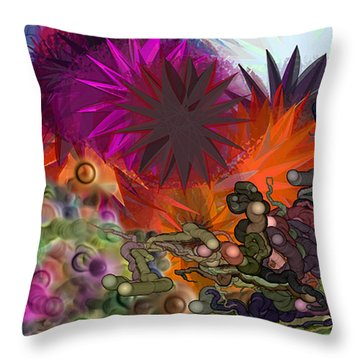 Playing1 Throw Pillow