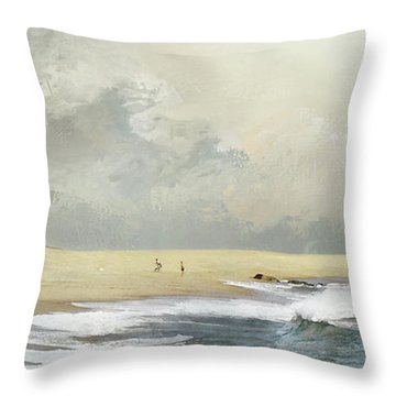 Plum Island Sky Throw Pillow