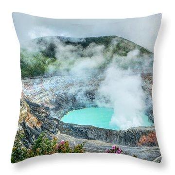 Poas Volcano, Costa Rica Throw Pillow