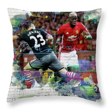 Pogba Street Art Throw Pillow by Don Kuing